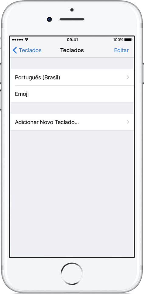 mudar layout iphone sobre os teclados do iphone ipad ou ipod touch suporte