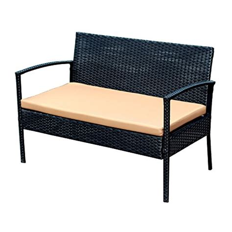 Ebs Outdoor Rattan Garden Furniture Patio Conservatory Sofa And Coffee Table Set