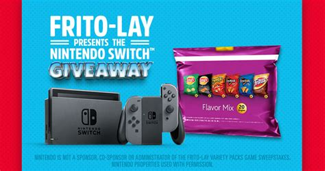 Frito Lay Game Giveaway Codes - flvpgame giveaway win a nintendo switch every hour