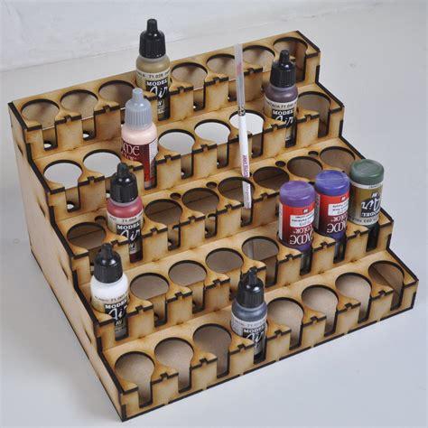 Airbrush Paint Rack by Lasercut Paint Rack For 40 Vallejo Warpaint