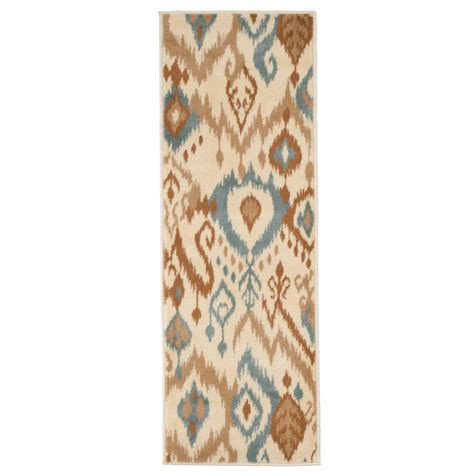 ikat rug runner ikat 1 ft 8 in x 5 ft rug runner 62 06 hz1 187 the home depot