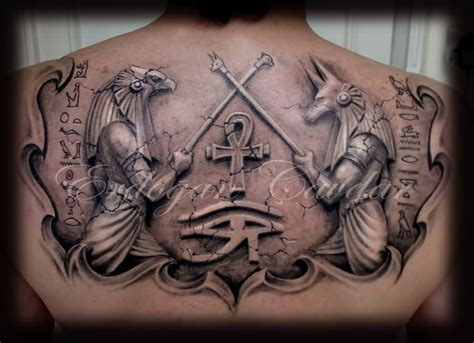 egyptian gods tattoos 20 beautiful anubis and horus tattoos