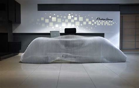 Sculptural Reception Desk For Cypriot Furniture Brand Organic Reception Desk