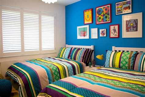 Colourful boys bedroom contemporary kids