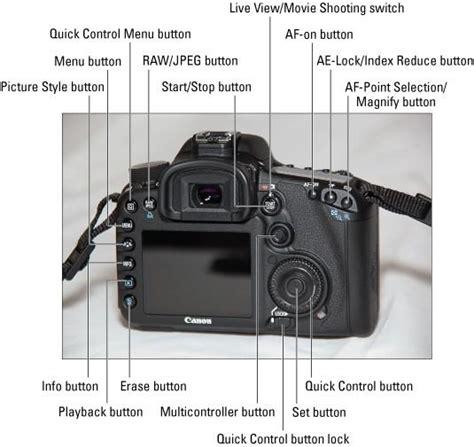 Kamera Nikon E05 hvordan identifisere dials og knapper p 229 canon eos 7d