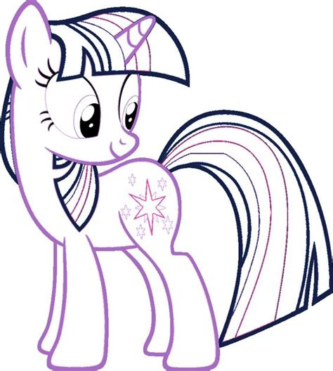 pony nice twilight sparkle coloring page