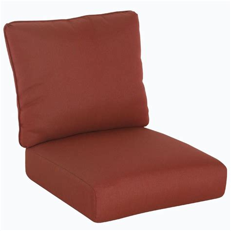 Replace Cushions In by Hton Bay Tobago Burgundy Solid Replacement Seat And