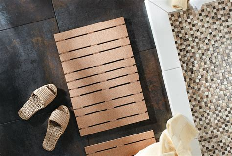 Cork Bath Mats Bathrooms by Wood Cork Bath Mat Home Style