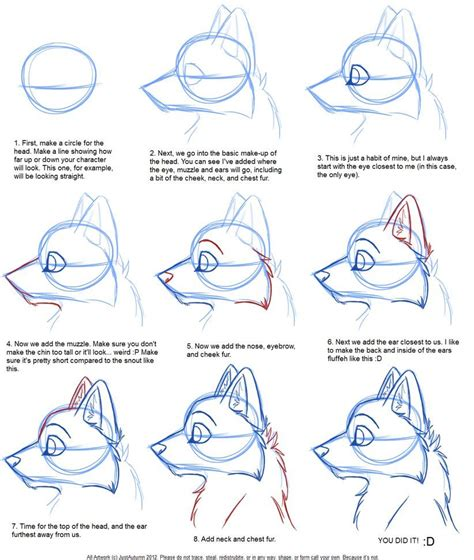 typography tutorial pinterest how to draw canine profile tutorial by justautumn on