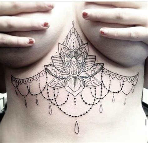 pointillism under breast tattoos pinterest mehndi love this piece sternum tattoos pinterest