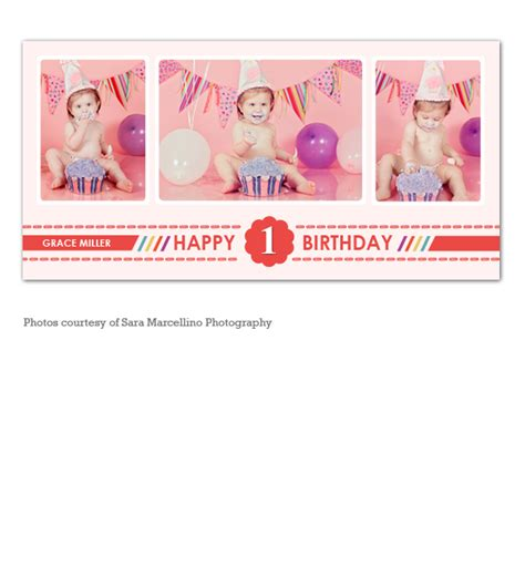 Happy First Birthday Collage My Product Catalog 1st Birthday Collage Template