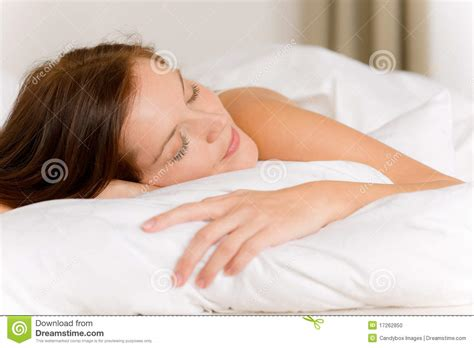 woman in bed bedroom young woman sleeping stock photo image 17262850