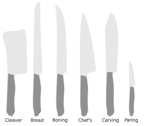 Names Of Knives In The Kitchen File Kitchen Knives Svg Wikimedia Commons