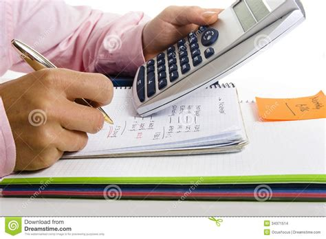 monthly cost of a calculating monthly costs stock images image 34371514