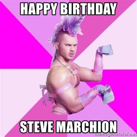 Unicorn Birthday Meme - happy birthday steve marchion unicorn boy meme generator