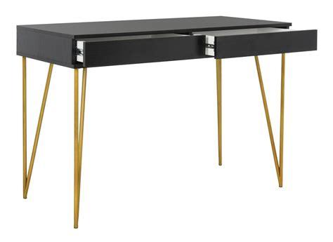 black and gold desk fox2238b desks furniture by safavieh
