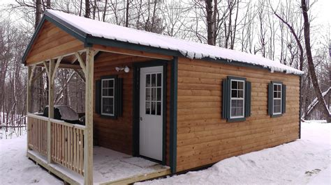 hunting cabin north country sheds
