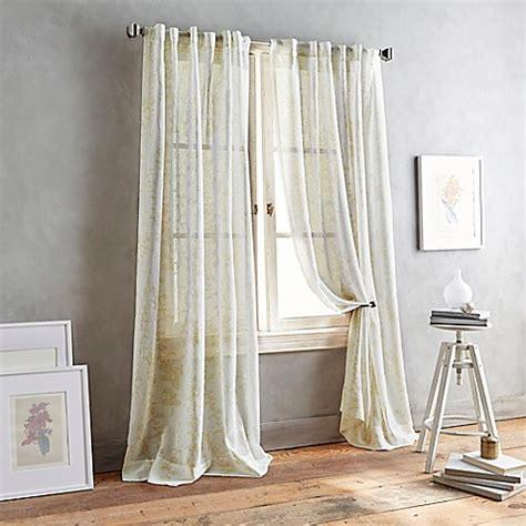 back tab sheer curtains buy dkny front row 63 inch back tab sheer window curtain