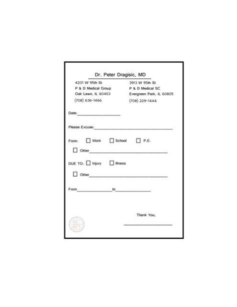 templates for doctors notes fake doctor s notes templates fast fun life savers