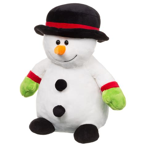 b m snowman plush toy christmas stuffed cuddly toys