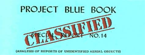 project blue book special report 14 project blue book special report 14