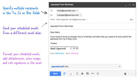 email gmail how to schedule emails in gmail for sending at a later date