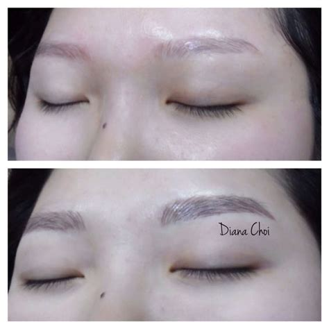 eyebrows tattoo hair by hair eyebrow korean style and diff rent strokes on