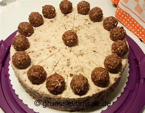ferrero kuchen mandel marzipan rocher torte