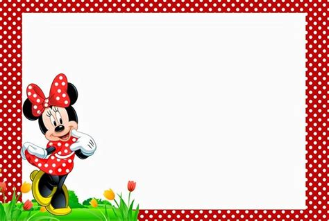 Minnie Mouse Birthday Card Template by Minnie Mouse Free Printable Invitation Templates