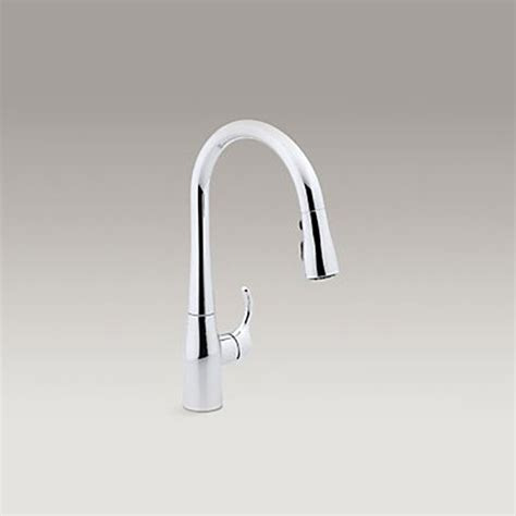 Kohler Simplice Single Hole simplice pull down kitchen sink faucet preston b k