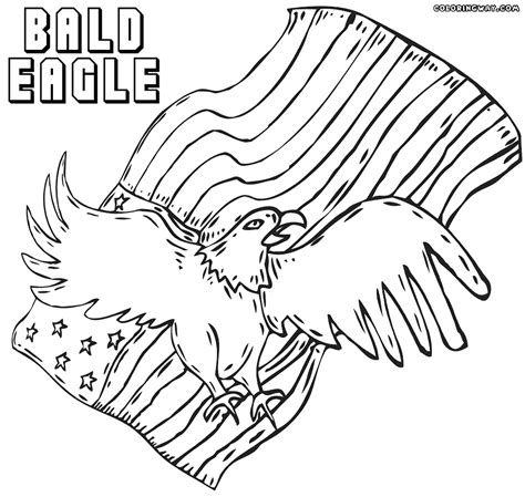 coloring pages bald eagle and us flag bald eagle coloring pages with american flag american