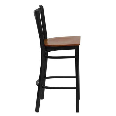 metal frame bar stools vertical back metal frame bar stool fl6r6bb restaurant
