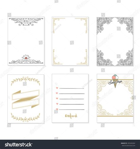 decorative printable postcards cooking cards notes stickers labels tags with cute