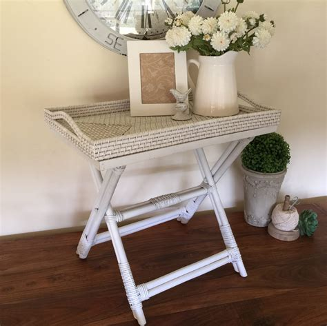butler table with tray rattan butlers tray table white humble home