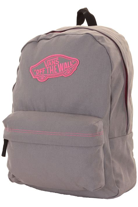 vans realm backpack women frost grey pink buy at skatedeluxe