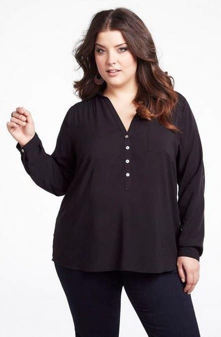 Pakaian Wanita Blouse Big Maurren tips berpakaian untuk wanita gemuk agar terlihat lebih langsing ide model busana