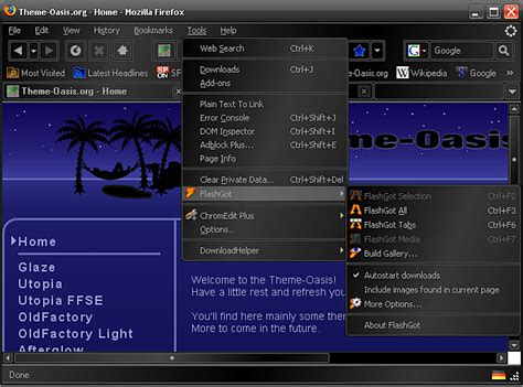 mozilla themes kostenlos glaze black firefox theme download chip