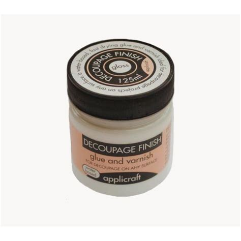 applicraft decoupage finish gloss finish 100ml