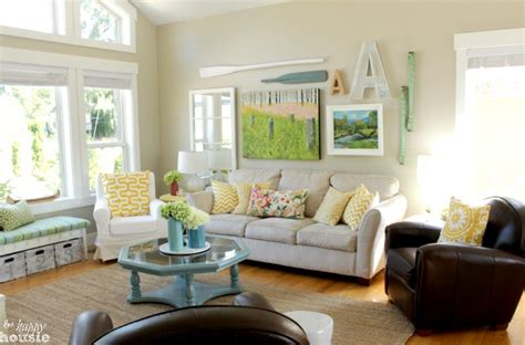 Summer Decorating Ideas For Your Living Room Lake Cottage Late Summer Beachy Decor House Tour