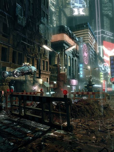 cgfantasy classic japanese cyberpunk city art ipad