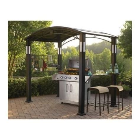 Grill Gazebo With Lights by Resorts Gazebo And Black On