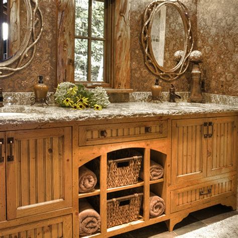 rustic decorating ideas small rustic bathrooms rustic bathroom d 233 cor ideas for a