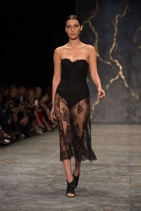 risqu 233 hadid exposes on runway see the