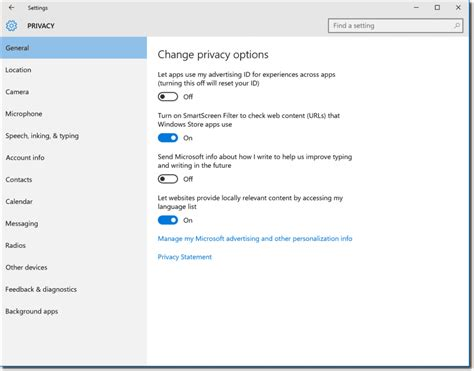 windows  privacy  group policy settings sysops