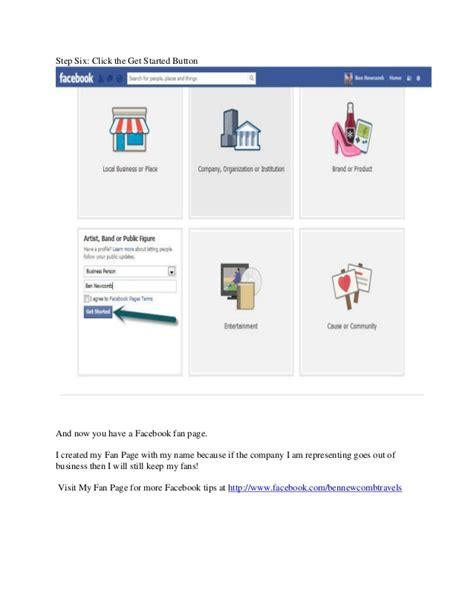 how to setup a facebook fan page facebook domination how to set up a facebook fan page