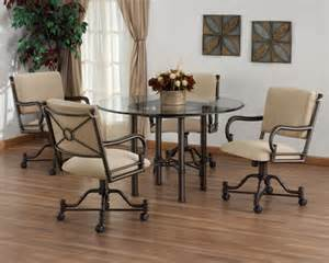 dinette sets with caster chairs dinette sets the flat decoration
