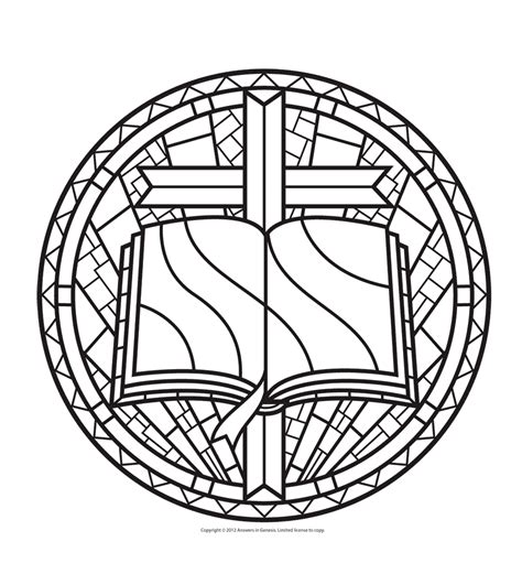 free coloring pages of stained glass window