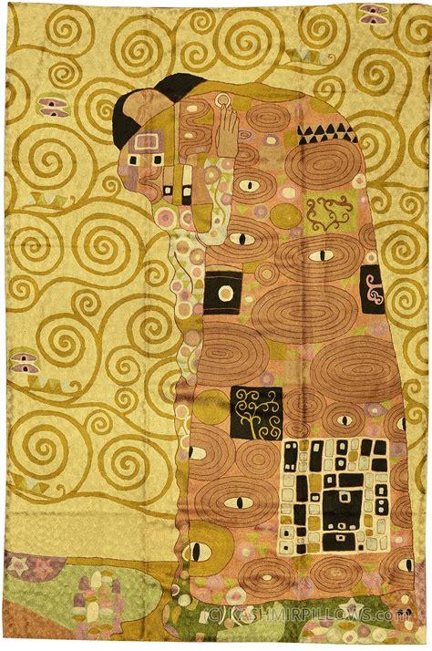 rug tapestry klimt 4ft x 6ft silk modern abstract rug tapestry embroidered kashmir arts