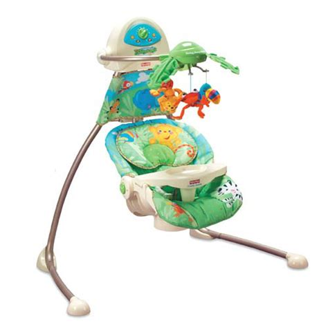 fiaher price swing com fisher price cradle n swing rainforest