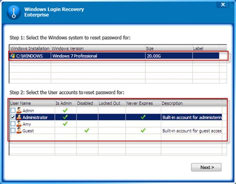 windows reset local password windows login recovery enterprise user guide